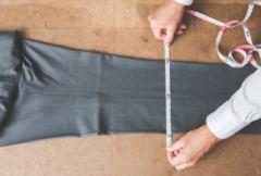 膝巾の採寸