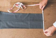 裾巾の採寸